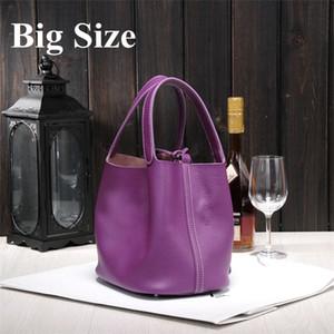 Al por mayor- 2019 Nuevos bolsos de mujer H marcas famosas de alta calidad Bolsos de cuero genuino marca de diseñador picotin lock ladies shopping 8e3f #