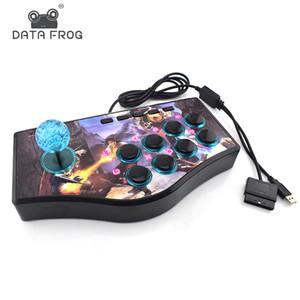 데이터 개구리 사용자 정의 아케이드 게임 조이스틱 USB 로커 게임 컨트롤러의 경우 PS2 / PS3 / PC 용 샤오 미 / 삼성 안드로이드 폰 Play 게임