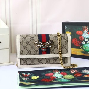 women reusable handbags Bag 2020 New Pattern Portable Small Square Package Messenger Badge Chain Packet crossbody purses sling 20*12.5*4cm