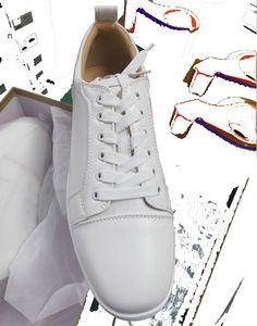 Erkekler Kadınlar Partisi Düğün Ayakkabı Boyut 47 için Dikenler Strass Düşük üst Siyah Süet Deri Eğiticilerin ile Erkek Kırmızı Dip Ayakkabı