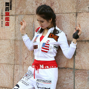 Stage Wear Hip-hop Female Coat Luyao Dynamic Jazz Street Dance Team Suit Loose Big Yards Costumes