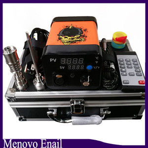 Menovo Electric Titainium Dab Nails Pen Rig Oil Wax Dabbing PID TC Box With Domeless Coil Heaer Dnail Kit Silicone Pad 0268110