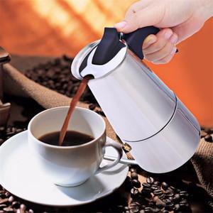 100/200/300 / 450ml Mocha Cafetera Filtro Moka olla de acero inoxidable Espresso Cafetera italiana Cafetera percolador Herramienta
