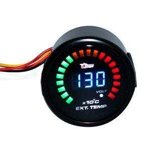 새로운 2 ''52mm LED 디지털 배기 가스 온도 온도 EGT 게이지 미터 12V 자동차 차량