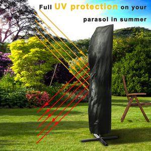 방수 옥스포드 천 야외 바나나 우산 커버 정원 비바람에 파티오 캔틸레버 파라솔 레인 커버 액세서리