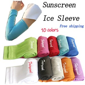 Hot sell sunscreen ice sleeve, ice silk sunscreen sleeve outdoor men and women cycling ultraviolet radiation, sweat protection arm