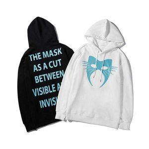 Роскошные Толстовки Толстовки Мужские маски Печатный Дизайнерские Толстовки Мода Solid Color Hip Hop Tops