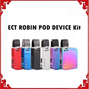 Оригинал ECT Робин Pod Kit Электронная сигарета VV Box Mod Kit 0.5ml Cartridge Портативный Vape Pen 6 цветов 0268117