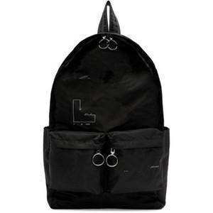 Мужчины бренда White Printed Hip Hop Ladies Рюкзак Мода женщин сумки высокого качества большой емкости студент сумка Повседневный путешествий Рюкзаки