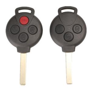 10pcs 3/3 + 1 Botões carro Remote Shell Key Fob caso para substituição MERCEDES BENZ MB Smart Car CIDADE ROADSTER FORTWO Auto Key Cover