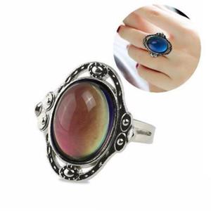 새로운 색상을 변경지 타원형 감정을 느끼 변하기 쉬워 보석 반지 온도 제어 반지 색상이 여성 선물 보석 액세서리