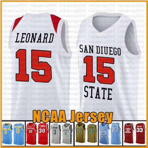 15 Kawhi San Diego State Aztecs College Leonard NCAA Universität Basketball Jersey 23 2 Leonard 3 Wade 11 Irving 30 Curry