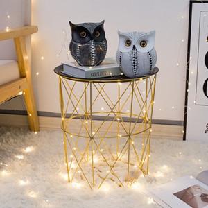 Crafted Owl Statue (bianco, nero) Piccole figurine di animali per la decorazione domestica, BFF per uccello gufo amanti, Soggiorno Camera da letto decorazione dell'ufficio