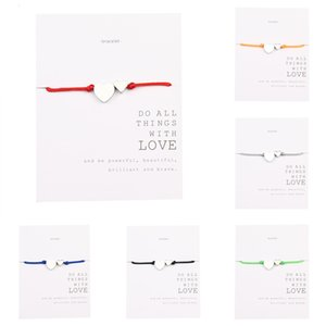 Girl's High Quality Ornaments Manual Weave Hand Rope Love Hand Decorate Stainless Steel Peach Card Bracelet Women Bangle For Women Girls