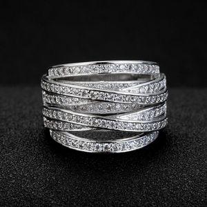 20200415 quente venda multi-camada anel anel de multi criativo enrolamento zircão