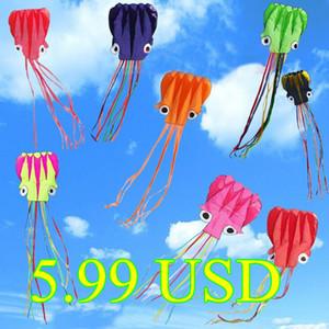 Neue Hi-q Hotsell 4 M Octopus Einleiner Stunt / Software Power Kite mit Flugwerkzeugen Aufblasbar und einfach zu fliegen Bestellung 3 Stück Mix WholeSale