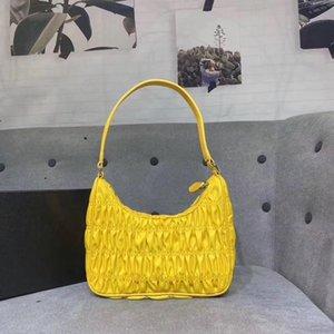 2020 Yeni Desigin Lüks Naylon Pileli Naylon Hobos Çanta Kol Çantası Renkli Desigin Stil İçin Kadınlar Ücretsiz Kargo 28