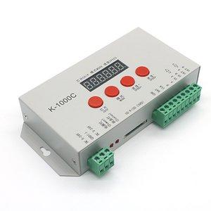 Edison2011 K1000C LED بطاقة SD لوحات تحكم DC5 ~ 24V ل WS2801 WS2811 WS2812B LPD6803 LED 2048 قطاع ضوء وحدة التحكم DMX512