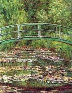 Claude Monet Brücke über den Seerosenteich Home Decor pintado à mão HD impressão pintura a óleo sobre tela Wall Art Canvas Pictures 200106