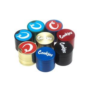 4 Layers 40*35mm Cookies SF California Zinc alloy Herb Grinder Smoke Grinder Tobacco Vape Grinders Smoking Accessories With Packaging Box