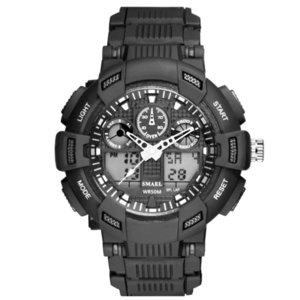 Display Smyel Doppia vigilanza principale luminosa Meter orologio elettronico adolescenti degli uomini orologi creativi
