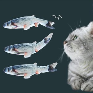 DHL Ship Details about Electric Cat Stuffed Toy Wagging Fish Realistic Plush Simulation Fish Catmint US FY4065