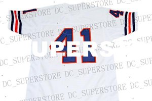 Großhandel Brian Piccolo # 41 Brian Song Film New Football Jersey Weiß Genäht Gewohnheit eine beliebige Nummer Name Männer Frauen Jugend Fußball JERSEY