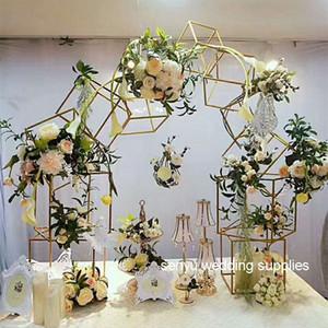 5шт/ набор свадебных прямоугольник золотой металлический подставка металлическая высокая рама Центральным стенды senyu0118