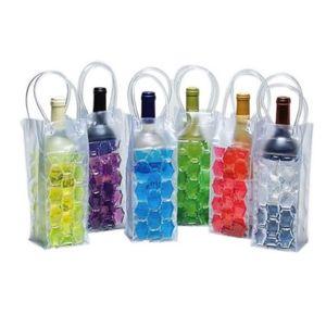 PVC Beer Vin Cooler Bag Extérieur Gel Sac de glace Refroidisseurs de vin Bière Gel Sac Bouteille Refroidisseur De Bouteille