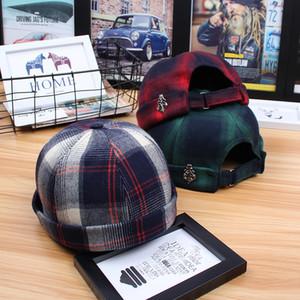 New Skullies Beanies coton solide citrouille Hat mode coréenne Hip Hop Casquette Hiphop pour hommes Beanies Sailor Cap Casquette