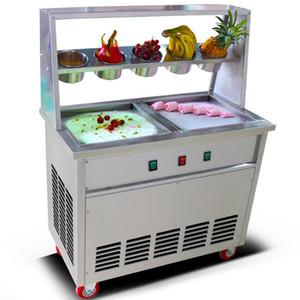 CE Полные из нержавеющей стали Один поддона плоского Fried мороженое машины льда пана производитель Фрай мороженого ролла пан машина Жареных кислого молока