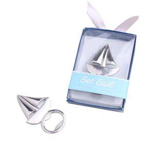 Düğün Doğum Günü Partisi hediye iyilik LX1425 Gümüş Yelken Yelken Tekne Şişe Açıcı Açacakları Metal Bira İçecek Aksesuar Yelkenli