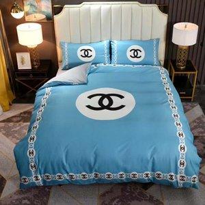 Branded Algodão Duvet Cover Set Velvet Bedding Set Algodão Bed Linens Consolador edredões Conjuntos Supplies macia roupa de cama