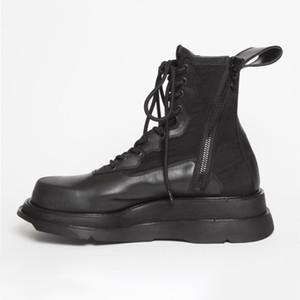 Europäische Mode Herren Aufzug Schuhe Casual Hohe Qualität Männer Lederstiefel Höhe Erhöhen Männer Knöchelstiefel 13 # 25 / 20D50