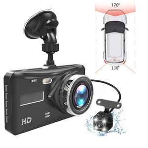 "Dash Cam Dual Lens Full HD 1080P 4"" IPS Car DVR Vehicle Camera Front+Rear Night Vision Video Recorder G-sensor Parking Mode WDR"