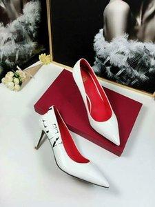 Valentino shoes 2020 새로운 여름 특허 가죽 패션 파인 힐 첨점 연회 웨딩 높은 Heels898