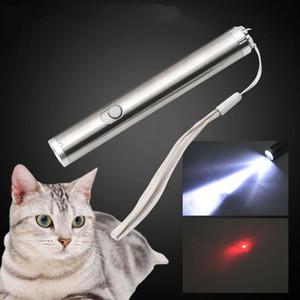 2 В 1 Multi Function Смешные Cat Chaser игрушки мини фонарик лазерный светодиодный Pen Light Cat Light Указатели Смешные Pet Игрушки Другие товары Cat