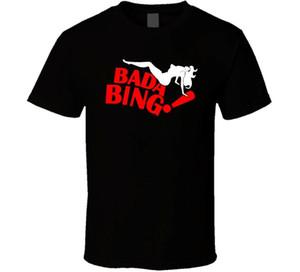 Bada Bing Retno camicia nero bianco degli uomini della maglietta di trasporto libero