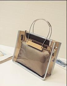 bolso de hombro de la cadena de moda bolso + bolsas de diseñador-2016 nuevas mujeres de los bolsos del bolso de hombro Claro diseñador más caliente de totalizadores de cuero PU 4 colores