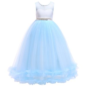 Children Girls Dress Christmas Party Kids Dresses for Girls Chao Fan Girl Prom Princess Long Dress 5-16Y Sleeveless Kids Clothes