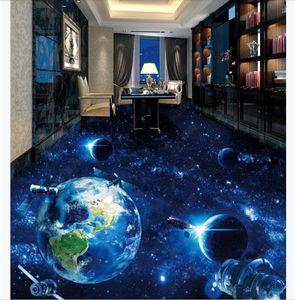 Personalizzati adesivi impermeabili per pavimenti in 3D impermeabili Cosmic Galaxy Earth 3D