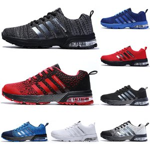 2020 running casual shoes men women black white blue grey Breathable cushion soft mens tainers outdoor sports sneakers size 36-45 Color4