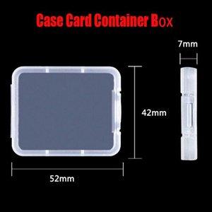Cartão de Memória DHL Caso Box Estojo de protecção para SD SDHC MMC cartão CF XD Shatter Container Box Branco transparente