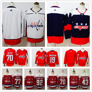 Costumbre 2019 capitales de Washington Jersey para hombre Mujeres Alex Ovechkin Jersey Tom Wilson T. J. OSHIE Braden Holtby Evgeny Kuznetsov jerseys del hockey