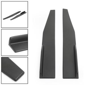 Areourshop Car Pair 74.5cm Car Carbon Fiber Side Skirts Rocker Splitters Diffuser Winglet Wings Car Auto Accessories Parts