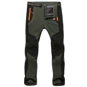 Thicken Fleece Pants Men Casual Winter Warm Soft Shell Breathable Trousers Male Windproof waterproof Elasticity Cargo Pants 5XL