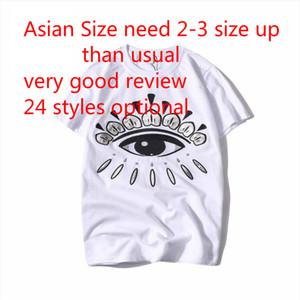 Erkekler Tasarımcı Tee Gözler Logo Nakış Tişörtlü Erkek Giyim Moda Kısa Kollu Tişört Kadınlar İçin 19SS Yaz T Gömlek Asyalı boyutunu cyp720
