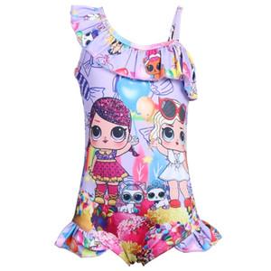 LOL Doll Swimwear Kids One-Piece Costume Swimsuit Bathing Suits Girls Cartoon Tankini Toddler Girl Triangle Beachwear Monokini