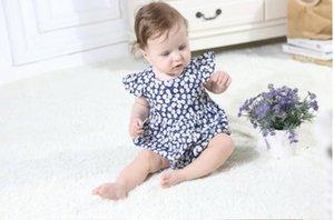 2019 Newborn baby girls floreale pagliaccetto tuta tuta abiti da festa Summe Baby Girl pagliaccetti principessa primavera