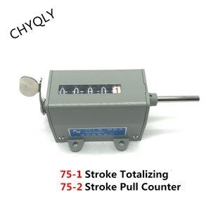 5 자리 카운터 기계식 회전 속도계 회전 타입 75-1 75-I / 리셋 가능 스트로크 합산 풀 카운터 75-2 75-II